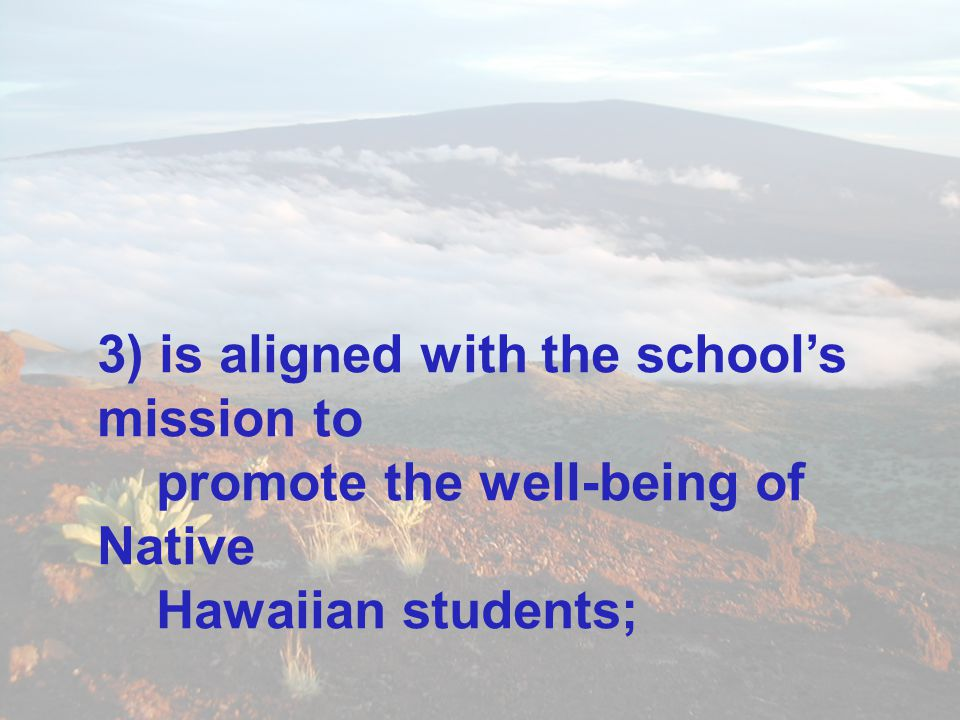 3) is aligned with the school's mission to
