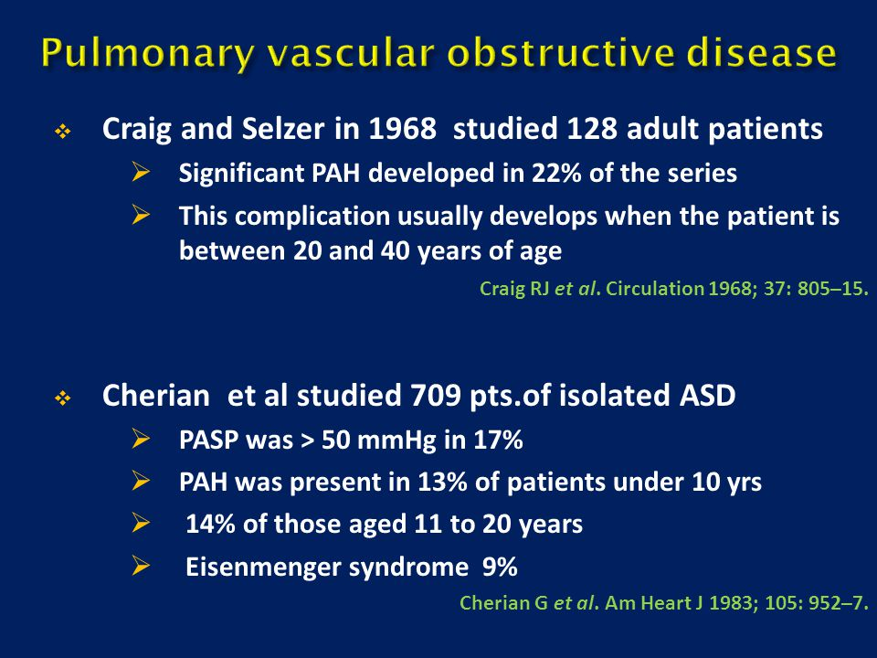 Pulmonary vascular obstructive disease