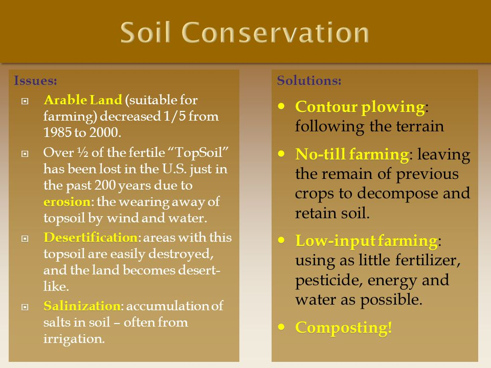 Soil Conservation Contour plowing: following the terrain