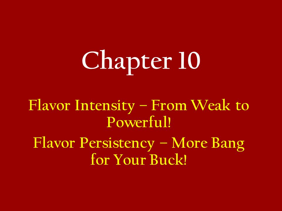 Chapter 10 Flavor Intensity – From Weak to Powerful!