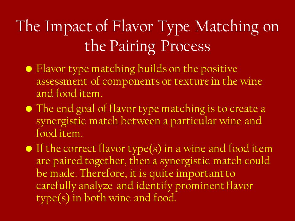 The Impact of Flavor Type Matching on the Pairing Process