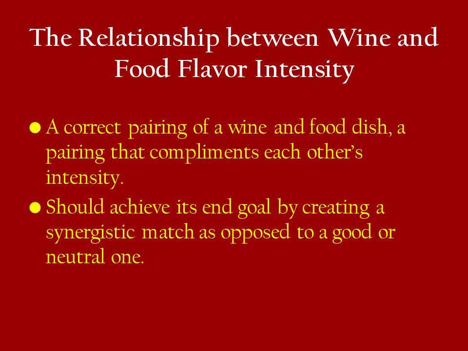 The Relationship between Wine and Food Flavor Intensity