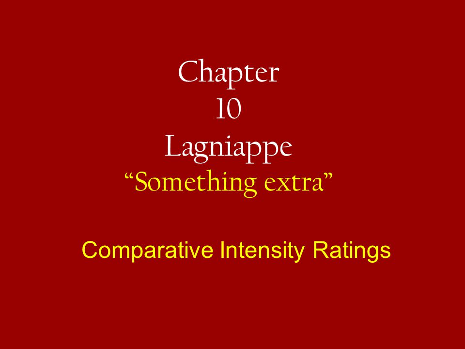 Chapter 10 Lagniappe Something extra