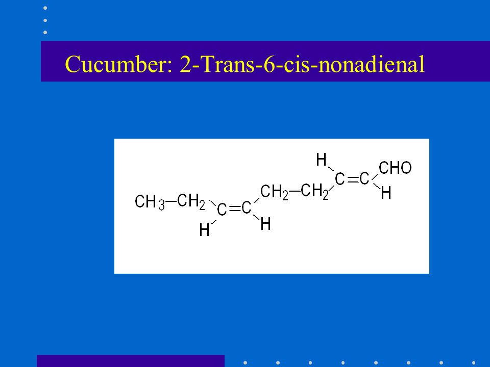 Cucumber: 2-Trans-6-cis-nonadienal