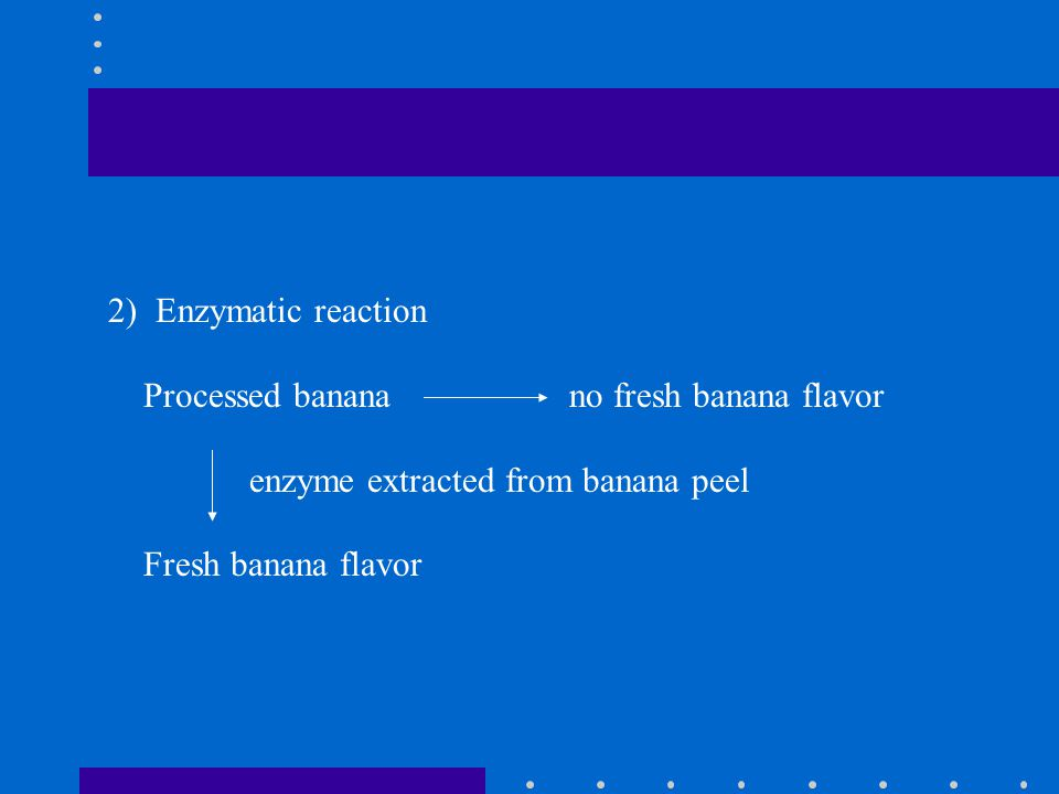 2) Enzymatic reaction Processed banana no fresh banana flavor. enzyme extracted from banana peel.