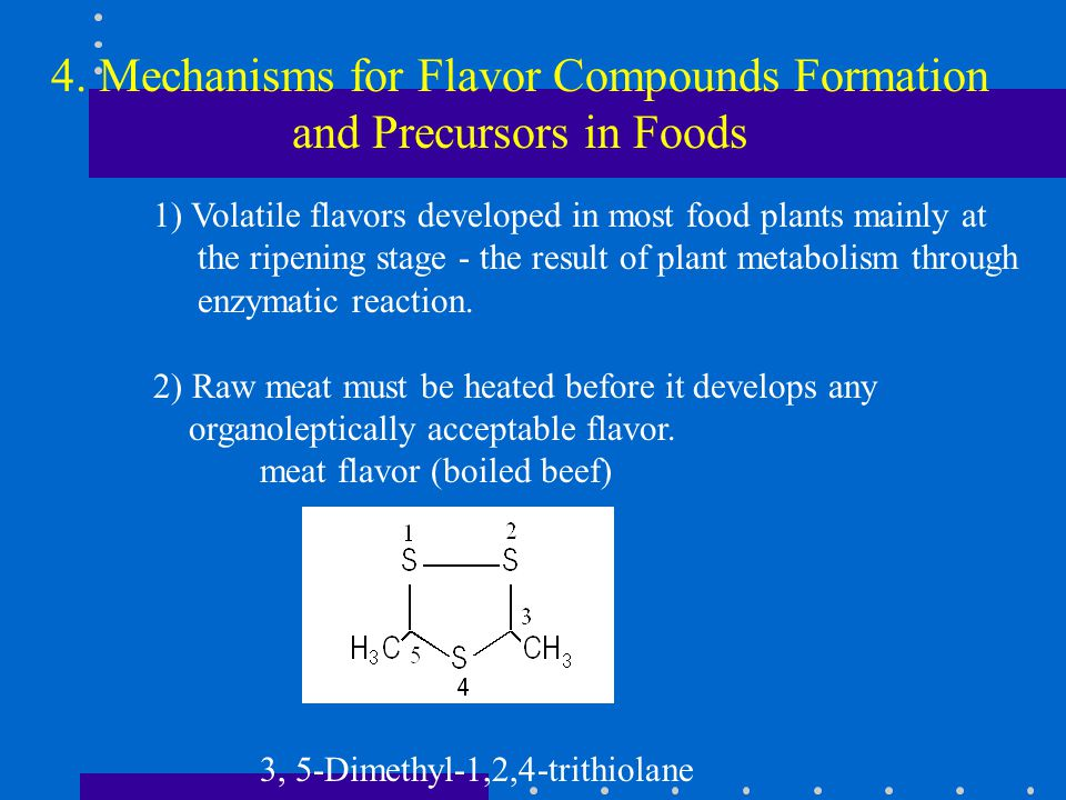 4. Mechanisms for Flavor Compounds Formation and Precursors in Foods