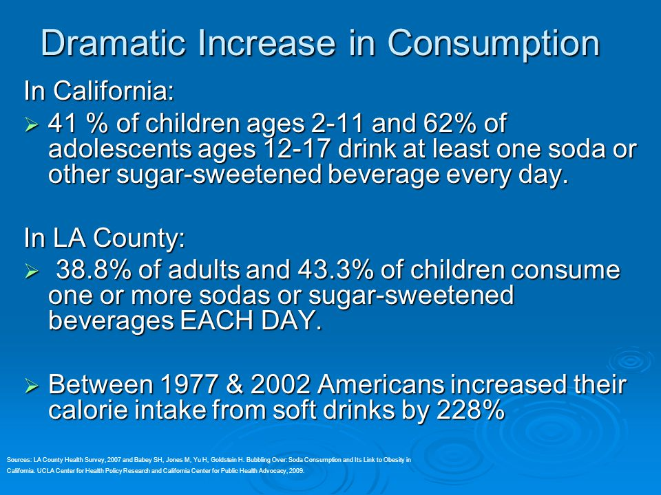 Dramatic Increase in Consumption