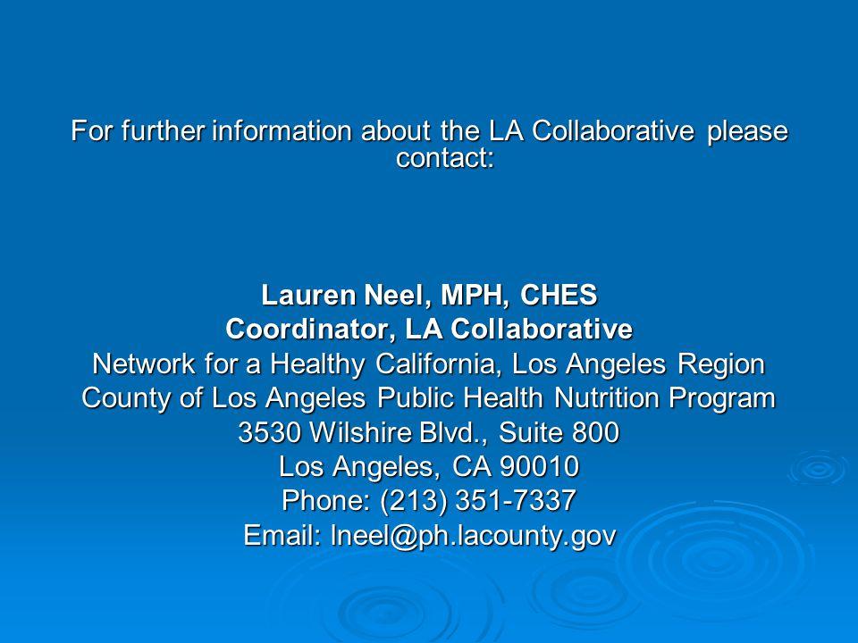 Coordinator, LA Collaborative