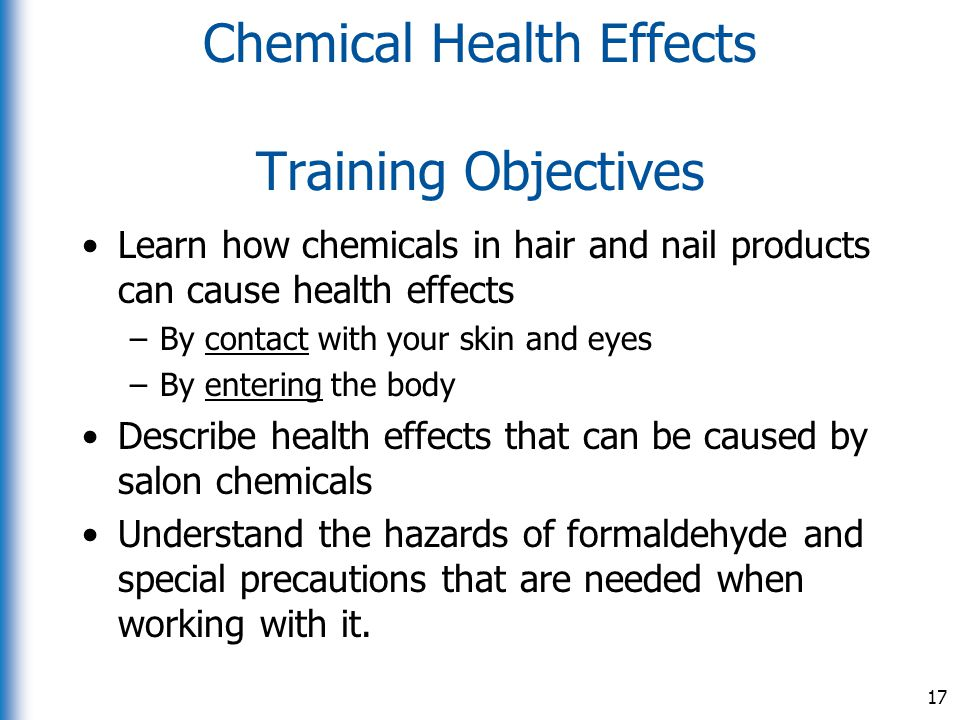 Chemical Health Effects Training Objectives