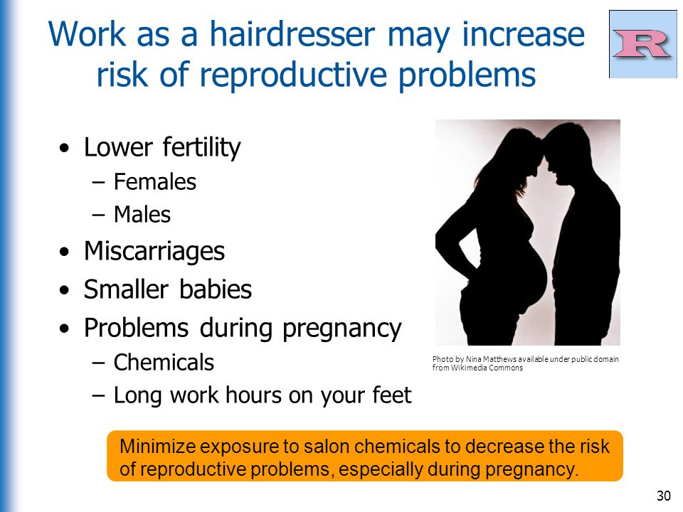 Work as a hairdresser may increase risk of reproductive problems
