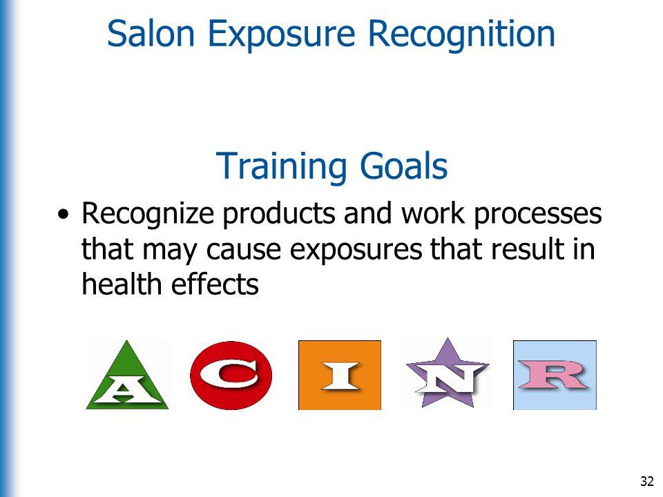 Salon Exposure Recognition Training Goals