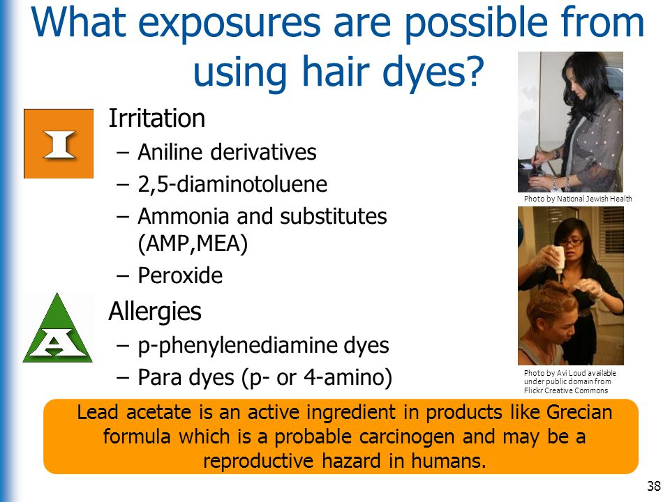 What exposures are possible from using hair dyes