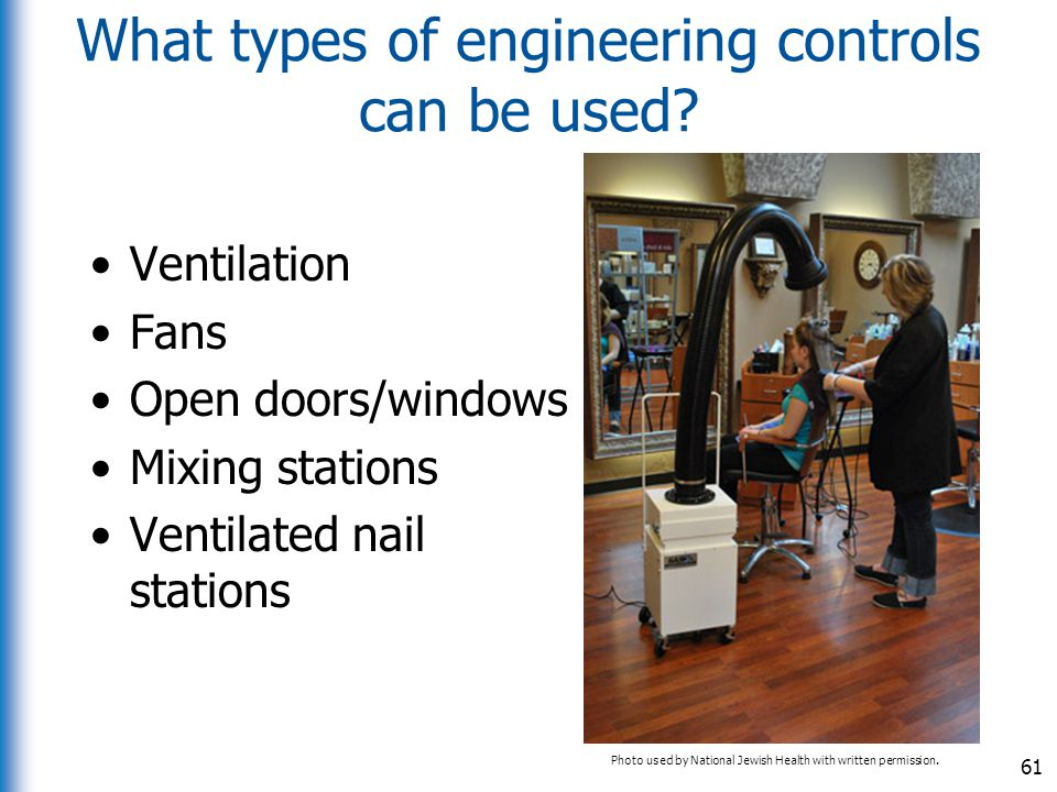 What types of engineering controls can be used