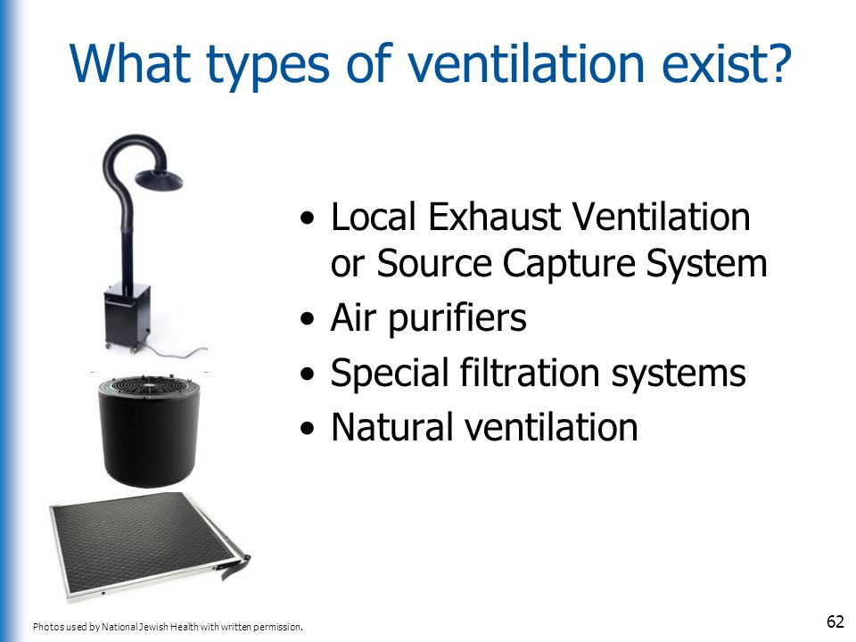 What types of ventilation exist