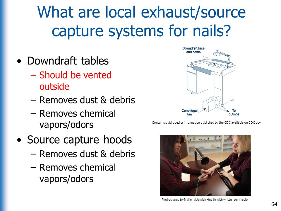 What are local exhaust/source capture systems for nails