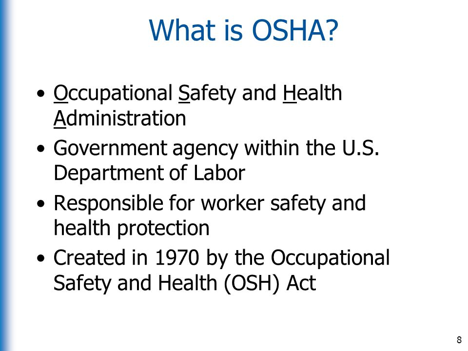 occupational safety and health administrator