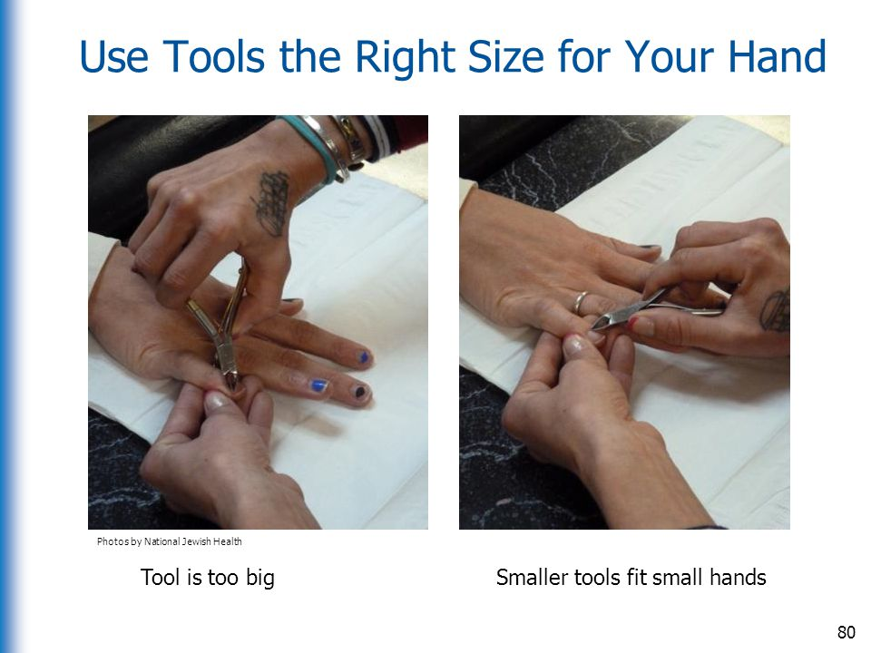 Use Tools the Right Size for Your Hand