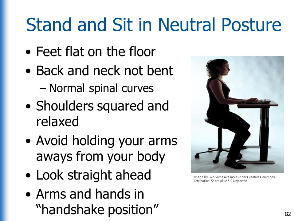 Stand and Sit in Neutral Posture