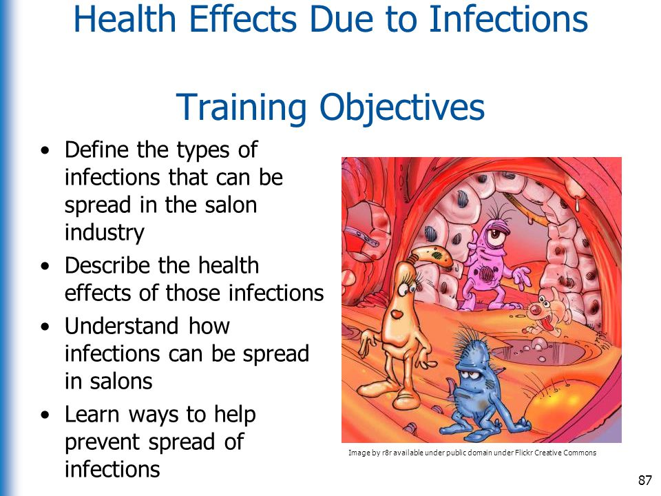 Health Effects Due to Infections Training Objectives