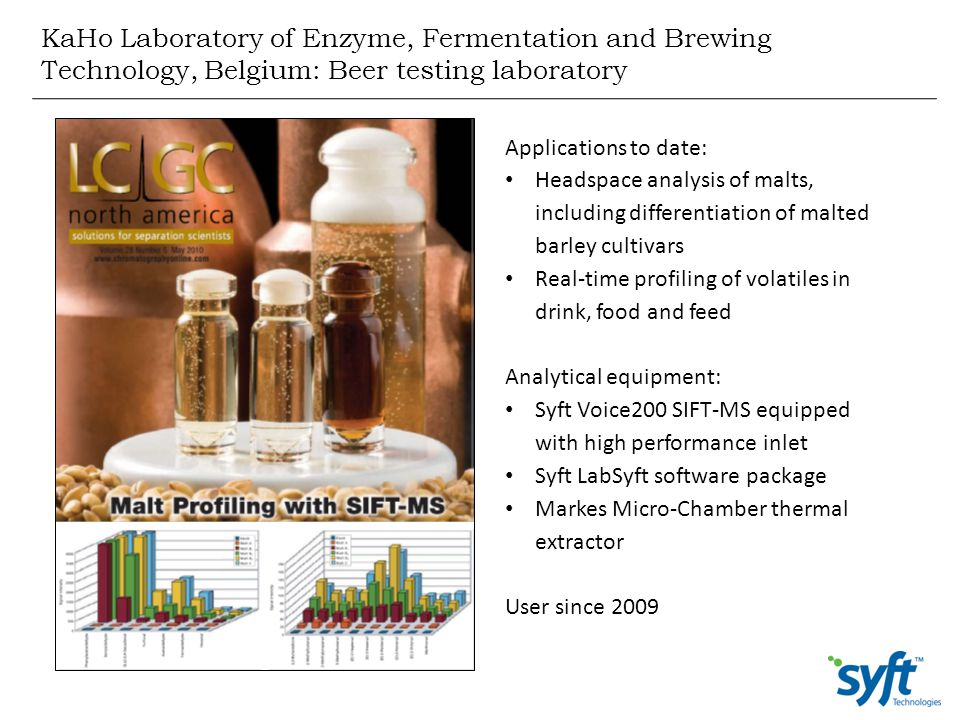 KaHo Laboratory of Enzyme, Fermentation and Brewing Technology, Belgium: Beer testing laboratory