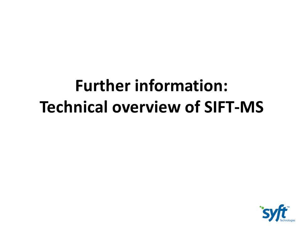 Technical overview of SIFT-MS