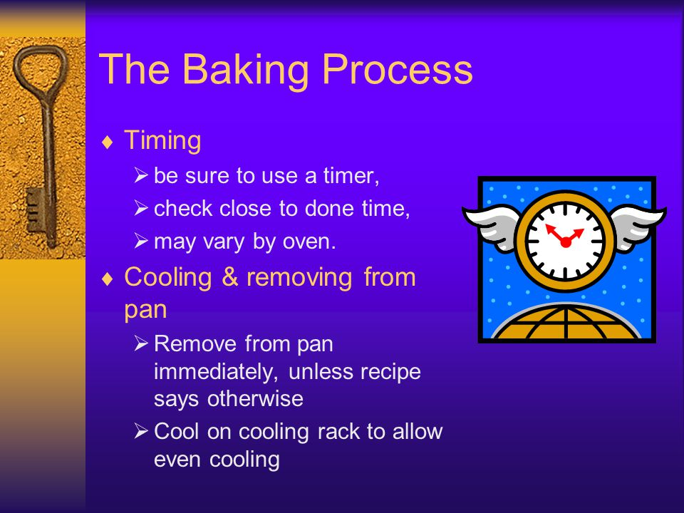 The Baking Process Timing Cooling & removing from pan