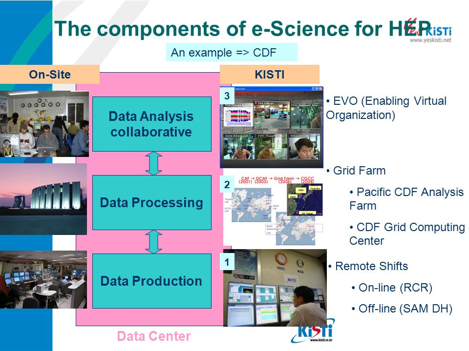 The components of e-Science for HEP