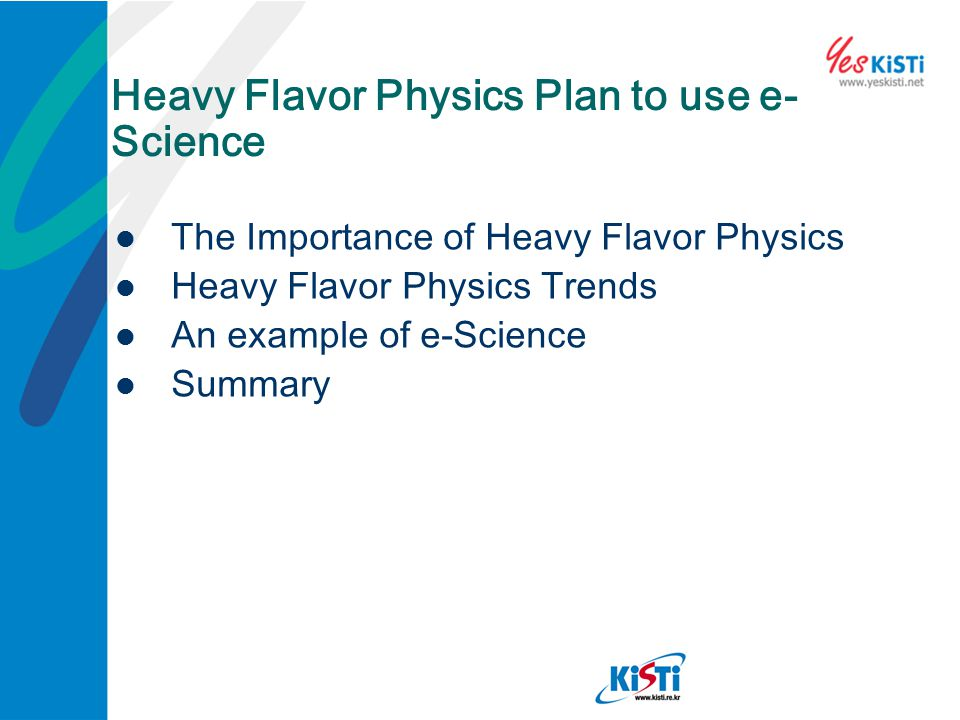 Heavy Flavor Physics Plan to use e-Science