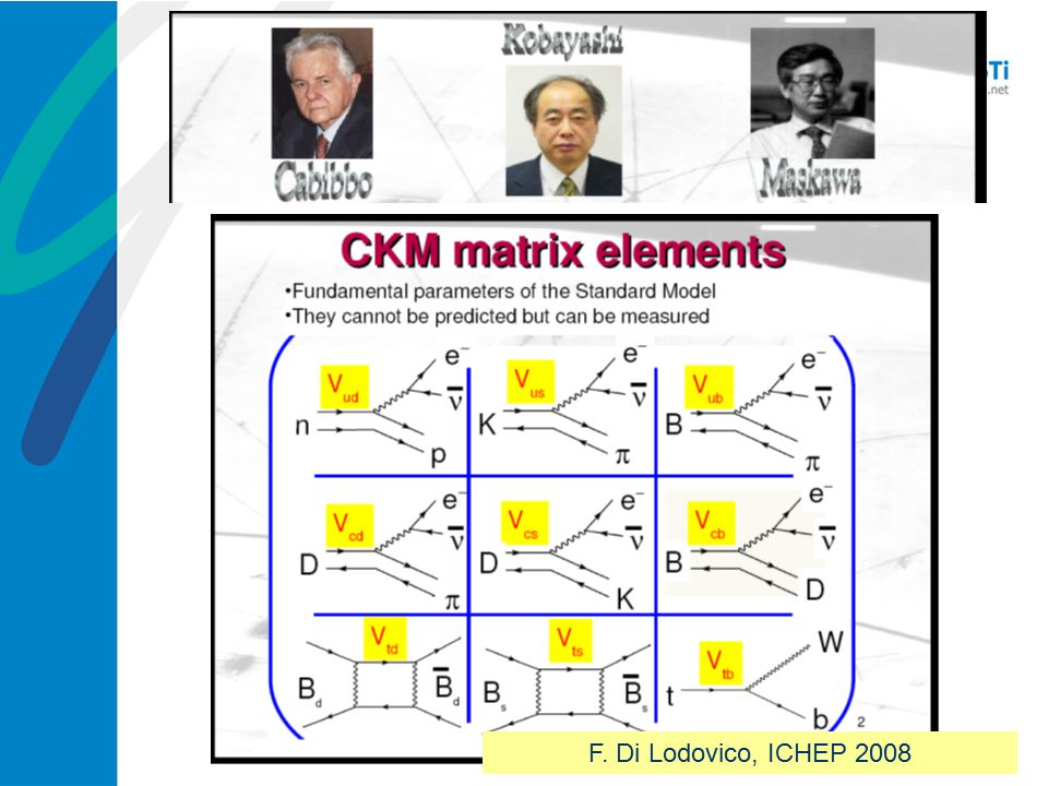 CKM matrix elements is fundamental parameters of the Standard Model