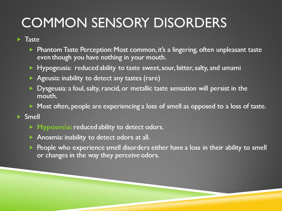 Common sensory disorders
