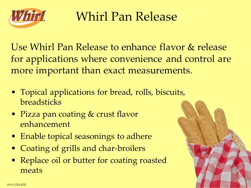 Whirl Pan Release