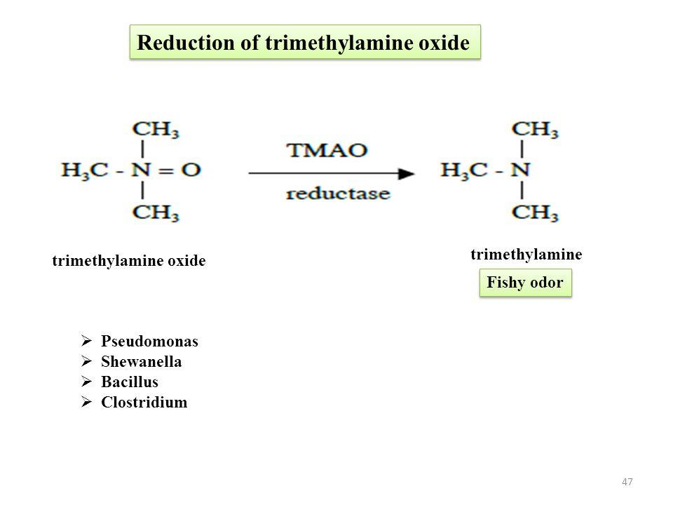 Reduction of trimethylamine oxide
