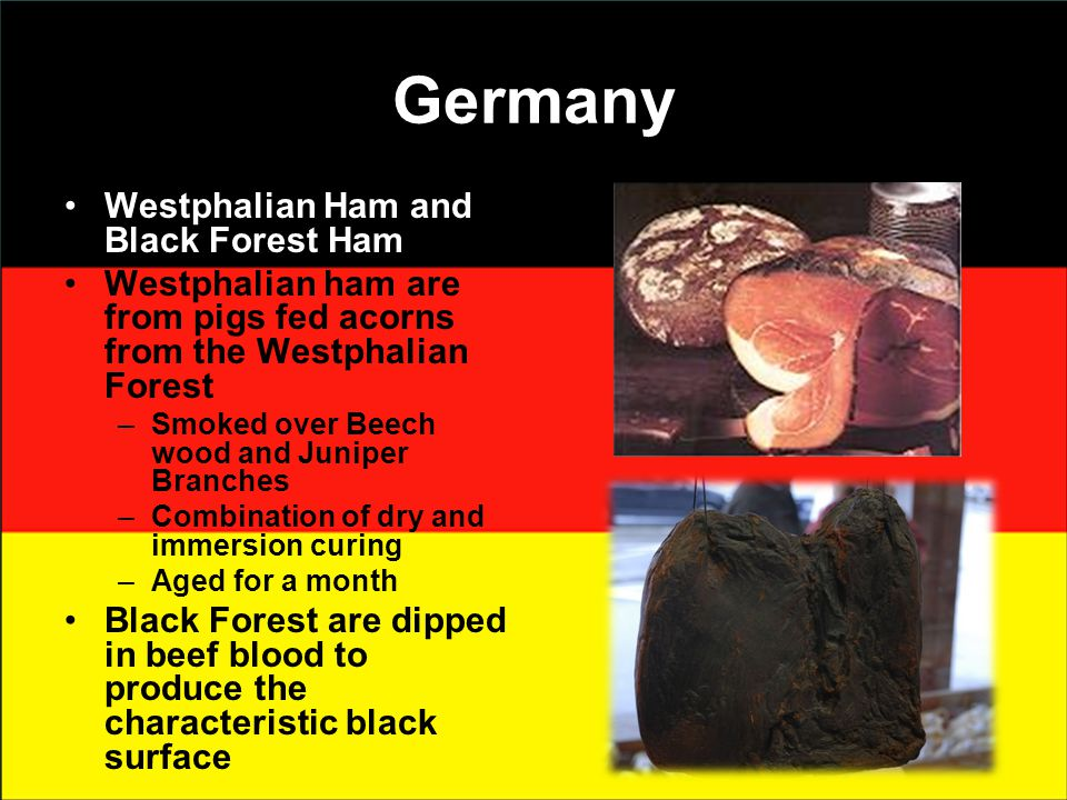 Germany Westphalian Ham and Black Forest Ham