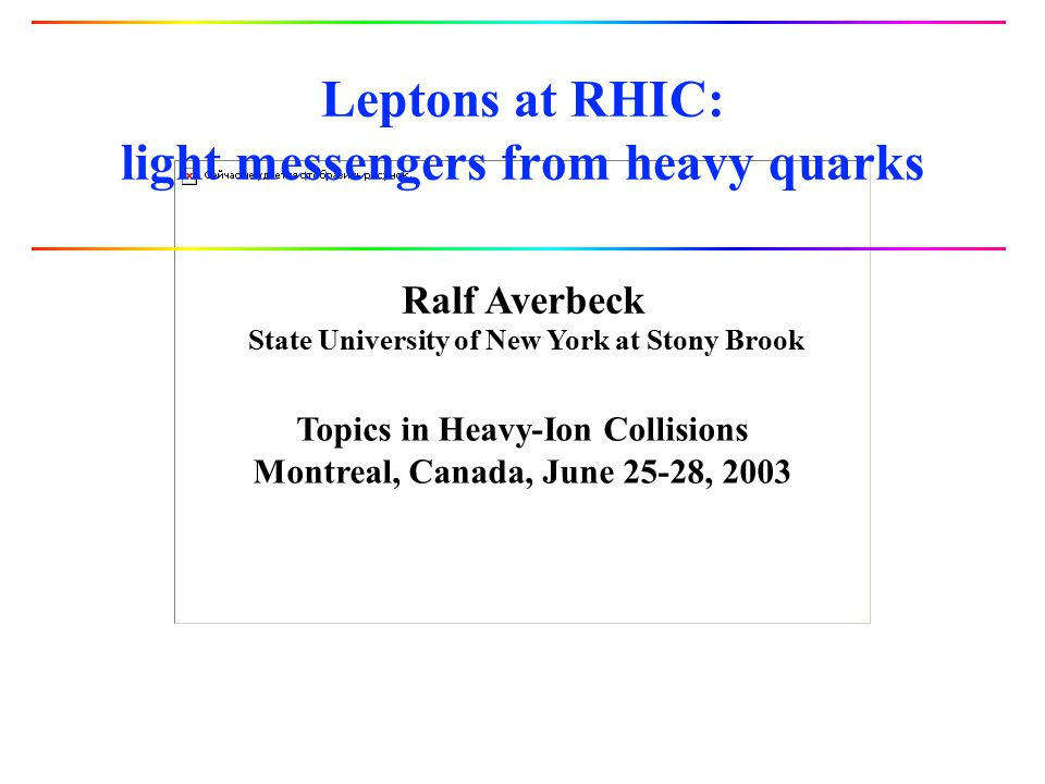 Leptons at RHIC: light messengers from heavy quarks