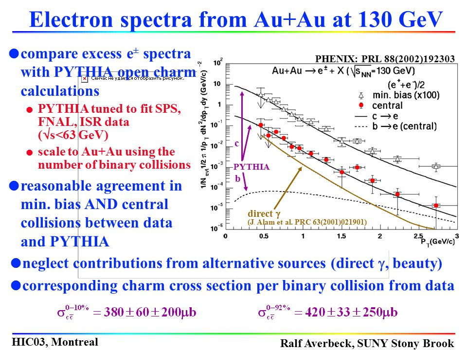 Electron spectra from Au+Au at 130 GeV