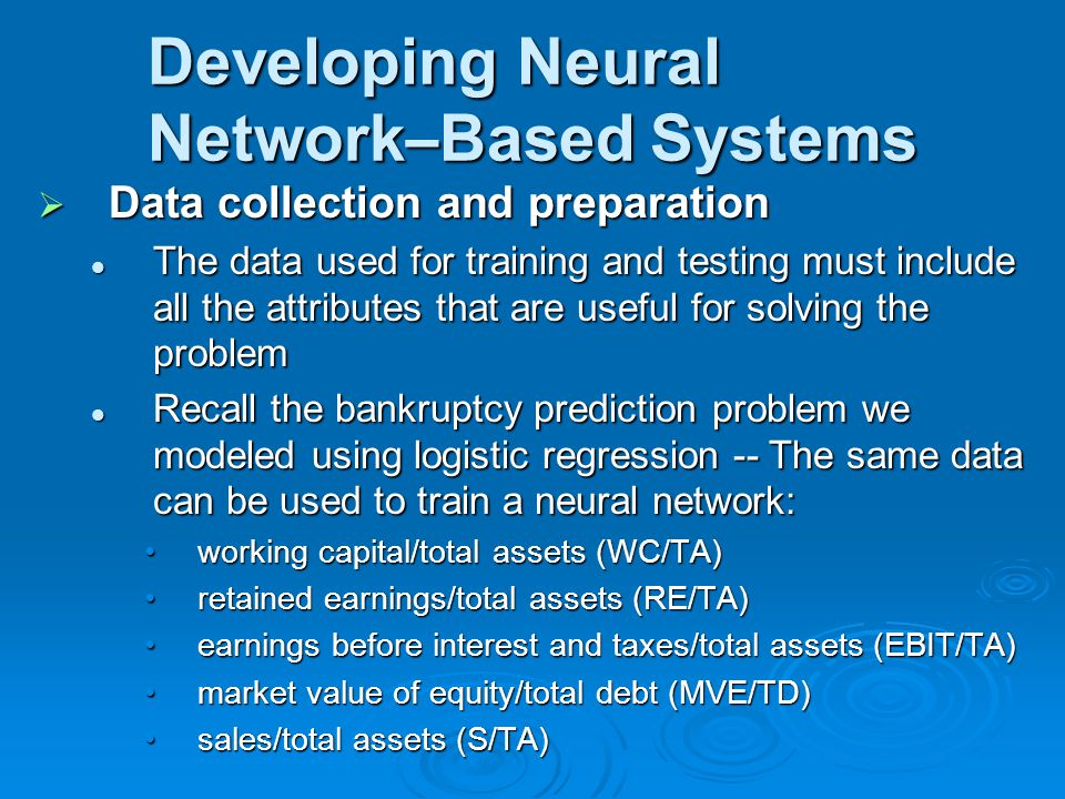 Developing Neural Network–Based Systems