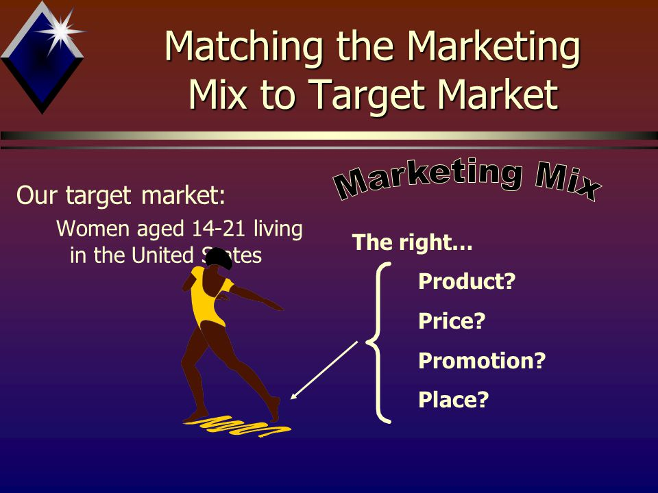 Matching the Marketing Mix to Target Market