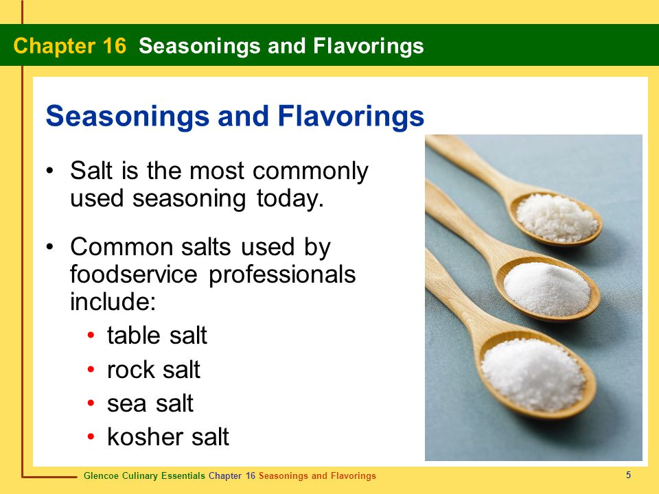 Seasonings and Flavorings