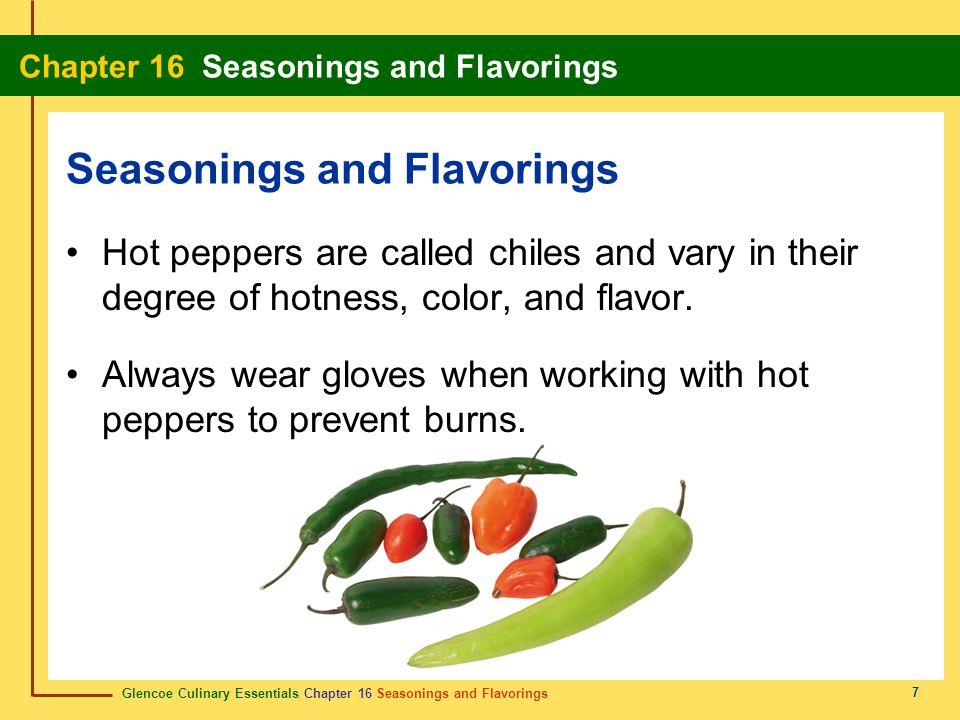 Seasonings and Flavorings
