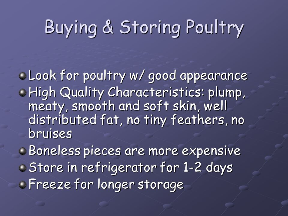 Buying & Storing Poultry