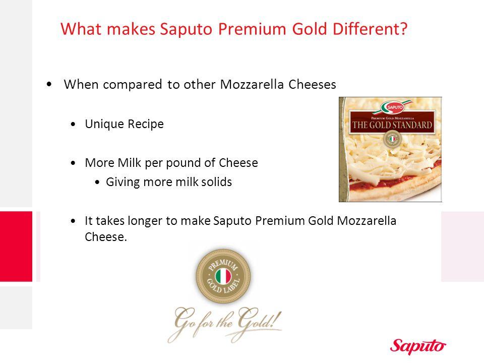 What makes Saputo Premium Gold Different