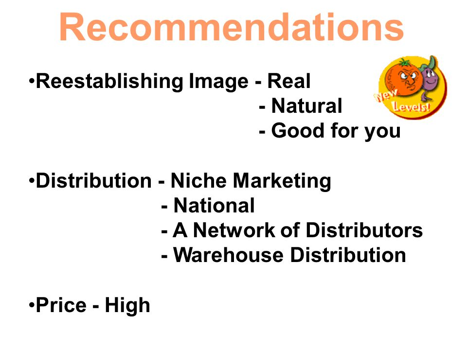 Recommendations Reestablishing Image - Real - Natural - Good for you