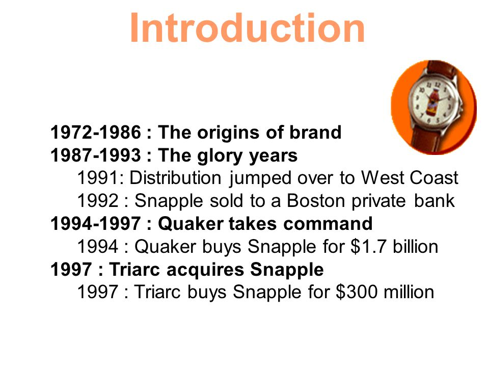 Introduction 1972-1986 : The origins of brand