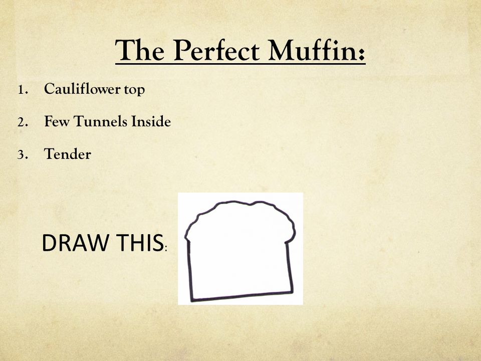 The Perfect Muffin: DRAW THIS: Cauliflower top Few Tunnels Inside