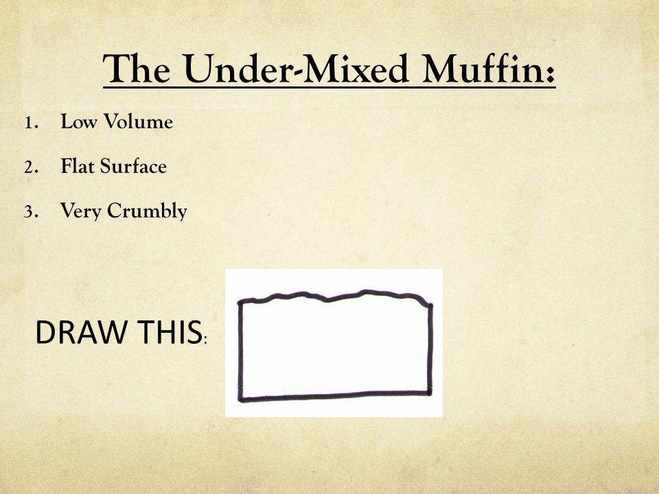 The Under-Mixed Muffin: