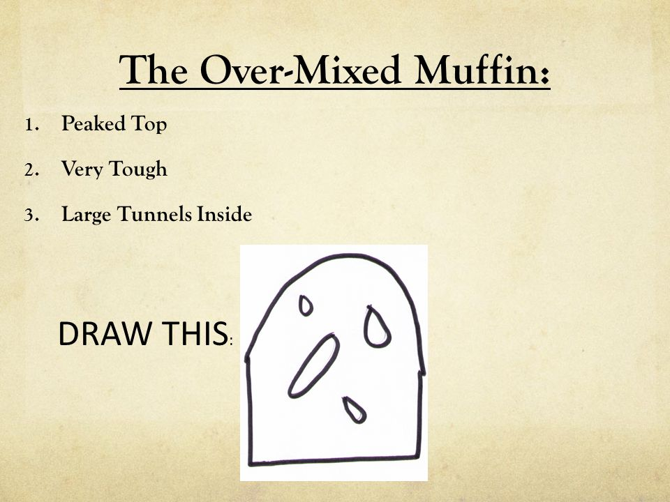 The Over-Mixed Muffin: