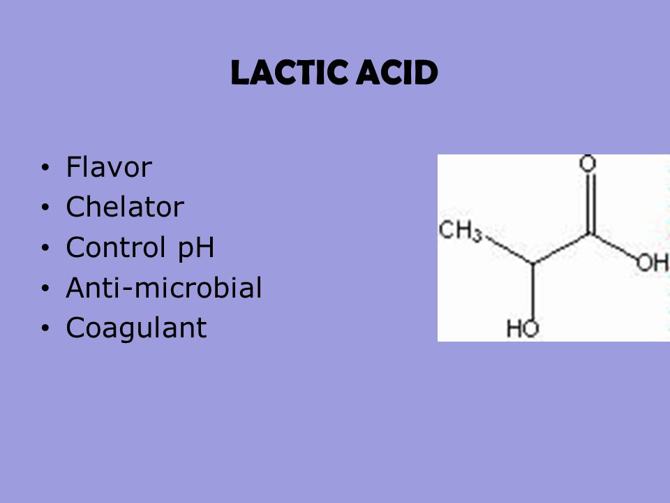 LACTIC ACID Flavor Chelator Control pH Anti-microbial Coagulant