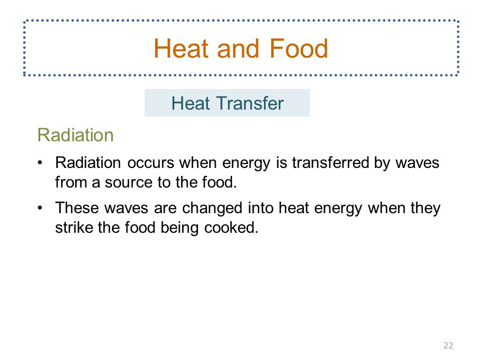 Heat and Food Heat Transfer Radiation