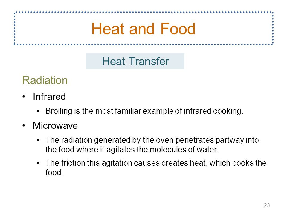 Heat and Food Heat Transfer Radiation Infrared Microwave