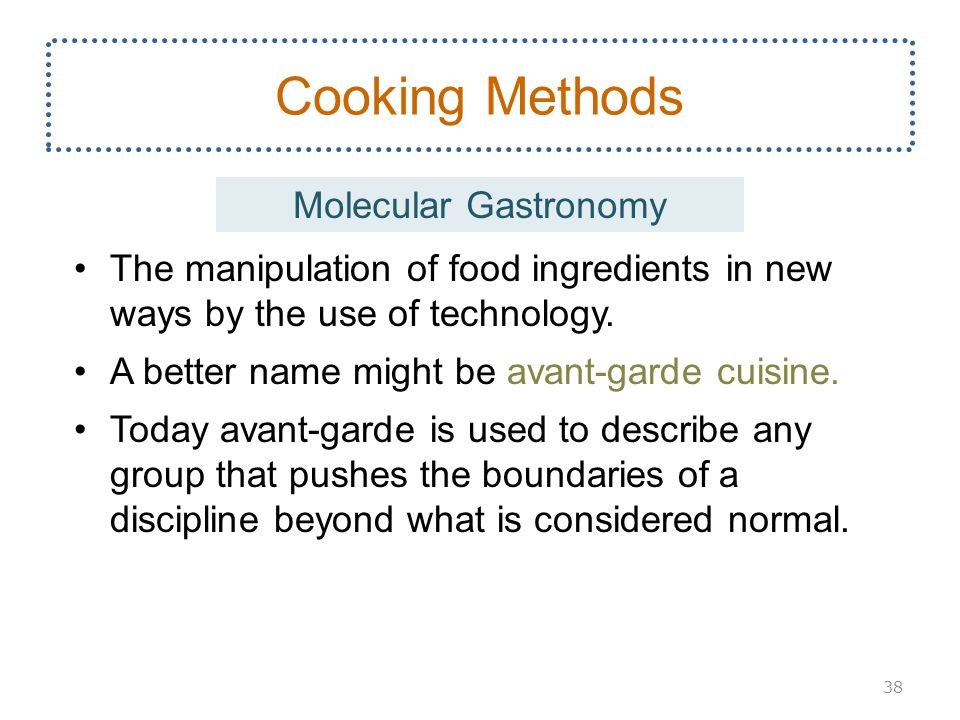 Cooking Methods Molecular Gastronomy